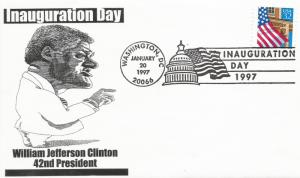 Clinton Inaugural cover Noble Catalog number WJC-II-009