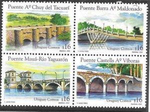 2005    URUGUAY  -  BRIDGES  -  MNH