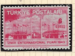 Turkey 1943 Early Issue Fine Mint Hinged 6k. 112225