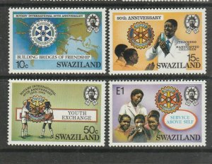 Swaziland 1985 Rotary International UM/MNH SG 477/80