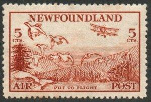 NEWFOUNDLAND-1933 5c Red-Brown Air Stamp Sg 230 LIGHTLY MOUNTED MINT V46310