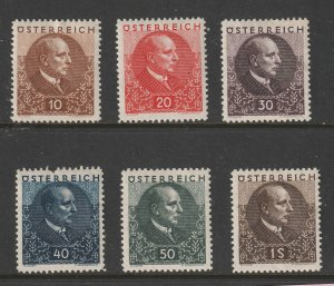 Austria the 1939 Tuberculosis set MH