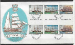 TUVALU 1981 FINE Cachet FDC Sailing Ships, Ships,VF-XF !! (RN-50)