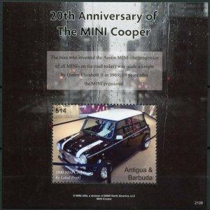Antigua & Barbuda Cars Stamps 2021 MNH MINI Cooper 20th Anniv 1v S/S