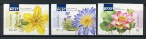 Australia 2017 MNH Water Plants Marshwort Lilies 3v S/A Set Flowers Stamps