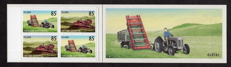 Iceland  #1132c  2008  MNH booklet agricultural tools 4x85k