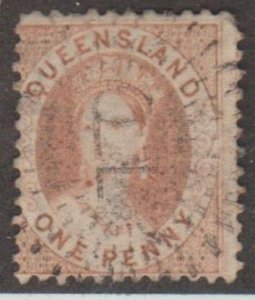 Queensland - Australia Scott #32 Stamp - Used Single