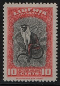 LIBERIA, 288, HINGED, 1942, BAY-THIGHED DIANA MONKEY