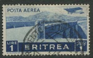 Eritrea - Scott C11 - Air Post -1936 - Used - Single - 1l Stamp