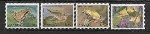 FROGS - ZAMBIA #462-5  MNH