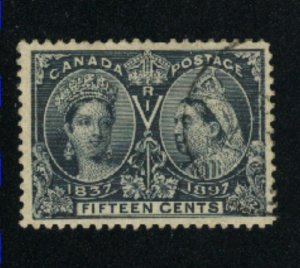 Canada #58  used  VF 1897   PD