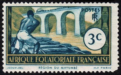 French Equatorial Africa - Scott 35 - Mint-Hinged - Rounded Corner