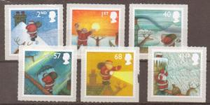 GB SG2582/7 2005 CHRISTMAS S/ADH MNH