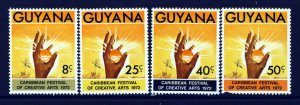 GUYANA 1972 Complete Caribbean Festival of Arts Set SG 573 to SG 576 MINT