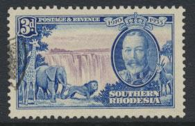 Southern Rhodesia SG 33  SC# 35  used  see scan and details