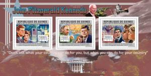GUINEA 2012 SHEET JFK KENNEDY FIDEL CASTRO SPACE PRESIDENTS