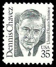 PCBstamps  US #2186 35c Dennis Chavez, 1991, MNH, (5)