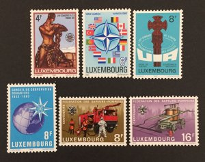 Luxembourg 1982-3 #683-8, Various Designs, MNH