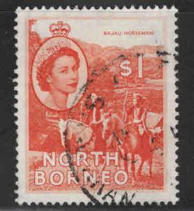 North Borneo Scott 272 Used QE2 stamp