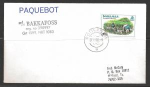 1986 Paquebot Cover, Bahamas stamp used in Rotterdam Netherlands