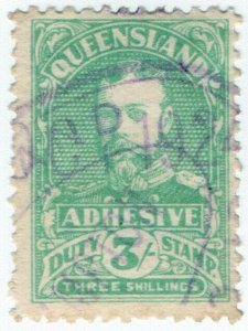 (I.B) Australia - Queensland Revenue : Adhesive Duty 3/- (1926)
