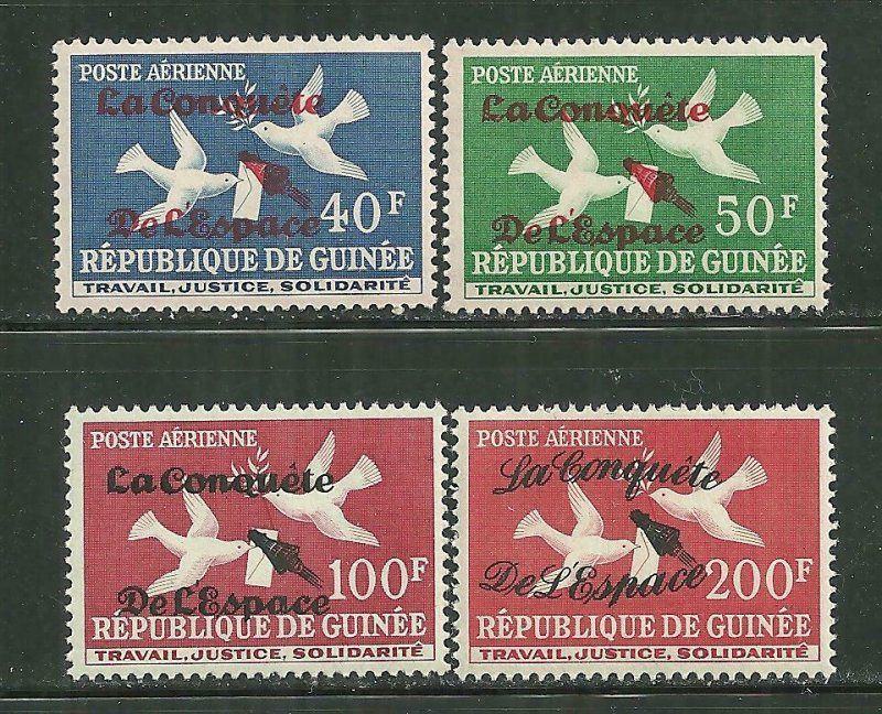 Guinea MNH C35-8 Conquest Of Space Overprints