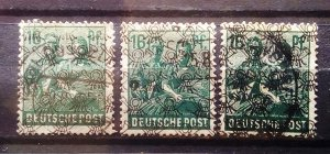 Germany Allied Occupation Mi 42II abc