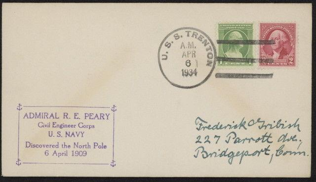 US 705 & 707 on 1934 Adm Peary Civil Engr Corps naval cover w/USS ...