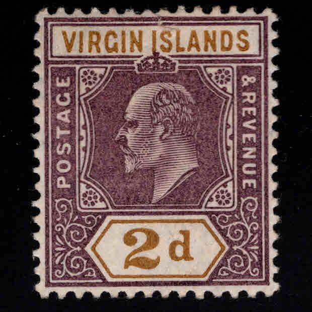 Virgin Islands  Scott 31 MH* KEVII 1904 CV  $7.75