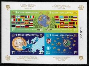 Bosniak #529e MNH IMP S/Sheet - Europa Stamps - 50th Anniversary (j)