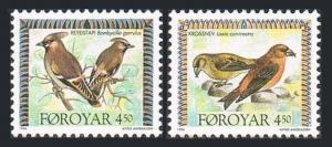 Faroe 300-301,MNH.Michel 298-299. Birds 1996.Laxia curvirostra,Bombycilla.