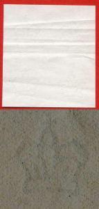 Large Crown watermarked paper Block 4 (Crease)