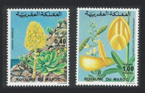 Morocco Flowers 2v issue 1977 SG#478=480