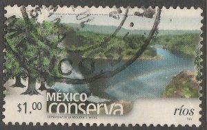 MEXICO CONSERVA 2255, $1P RIVERS. USED. VF. (898)