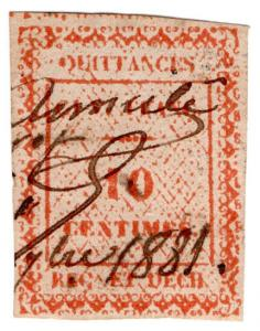 (I.B) France Colonial Revenue : Guyana Quittances 10c