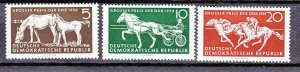 J26898 1958 germany DDR mh set #394-6 sports