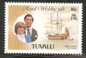 TUVALU Scott 157 MNH** 1981 Royal wedding yacht stamp