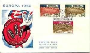 Monaco, Worldwide First Day Cover, Europa