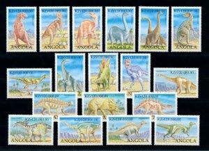 [101640] Angola 1998 Dinosaurs prehistoric animals From sheet MNH