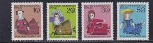 Germany Berlin # 9NB57-60, Dolls, Hinged, 1/3 Cat.