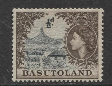Basutoland - Scott 46 - Qiloan Hill Issue -1954 - MNG - Single 1/2d Stamp