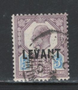 Great Britain Offices Turkish Empire 1905 Overprint 5p Scott # 22 Used