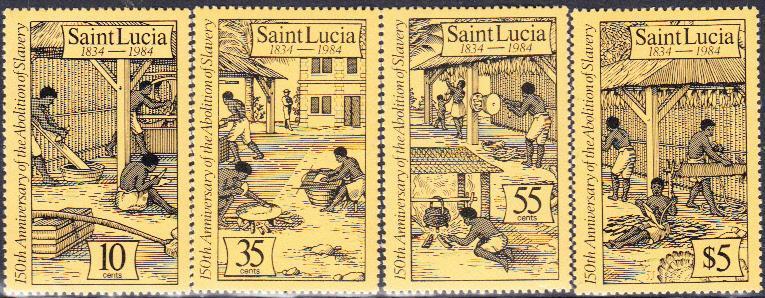 St. Lucia MNH 706-9 Abolition Of Slavery 1984 SCV 4.35
