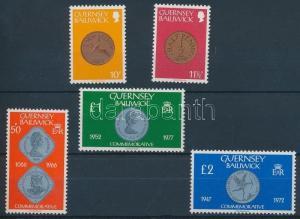 Great Britain - Guernsey stamp Coins set MNH 1980 Mi 199-203 WS111348