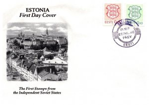 Estonia, Worldwide First Day Cover