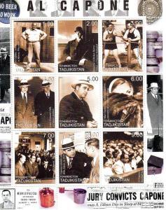 Tajikistan  2000  Al Capone American Gangster Sheetlet (9) Perforated MNH VF