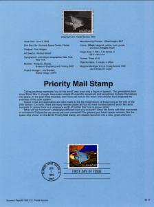 US SP955 Space Shuttle 2543 Souvenir Page FDC