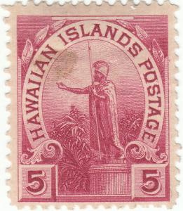 Hawaii, Scott #76 - 5c Rose Lake - Mint Hinged