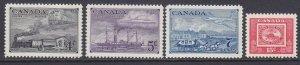Canada 311-14 MNH OG 1951 British N. American Postal Administration Centenary