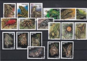 Reptiles Spiders Bats Stamps Ref 23982